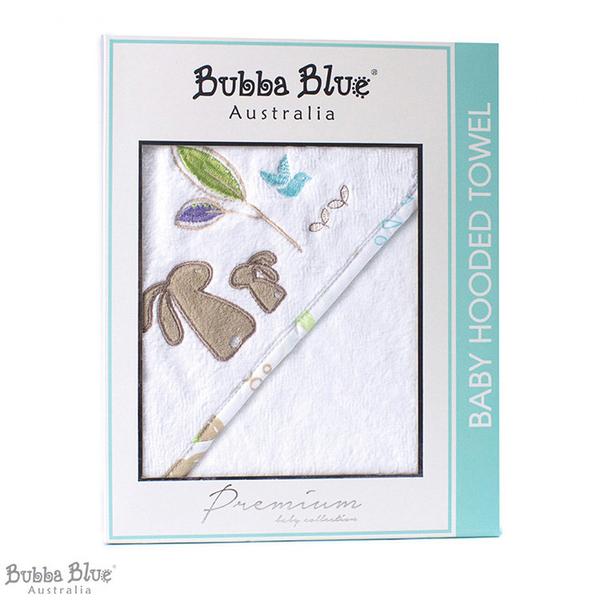 Bubba Blue 方形連帽浴巾 烏托邦兔