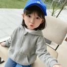 童裝 女童外套2021春裝新款韓版洋氣女寶寶4開衫拉鏈衫1-3-5歲嬰兒衛衣(新品上架)