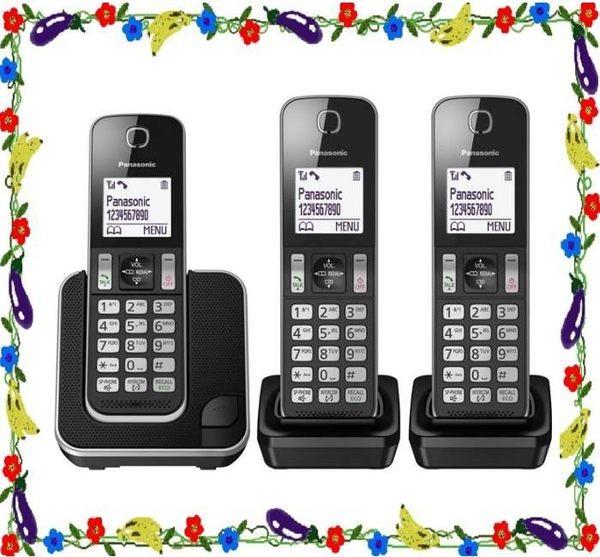 ◤1.8吋超大中文大字體1對3◢ 國際牌 DECT數位電話機(KX-TGD313)黑色 (公司貨)