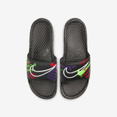 NIKE Benassi Jdi Print [CW2618-050] 男鞋 拖鞋 涼鞋 運動 雨天 夏天 穿搭 黑 紫
