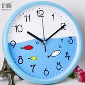 靜音卡通掛鐘客廳臥室鐘錶可愛兒童掛錶幼兒園卡通時鐘石英鐘 歐韓流行館