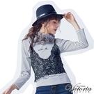 ◆商品貨號:V25227-88◆九分袖T罩上精緻的蕾絲背心,甜美層次令人傾心◆【商品只退不換】