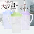 塑料冷水壺大容量耐熱家用涼水壺套裝果汁花茶壺耐高溫扎壺涼水杯【快速出貨】