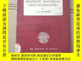 二手書博民逛書店soft罕見magnetic materials used in industry(P1481)Y173412