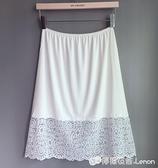 內搭襯裙 半身裙襯裙打底裙 防走光防透防靜電 裙內襯搭白黑色 蕾絲中長款