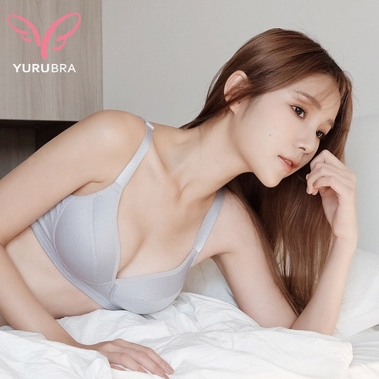 【Yurubra】輕舒呼吸內衣。B.C.D罩 無鋼圈 包覆 防外擴 集中 舒適 台灣製。※0624灰