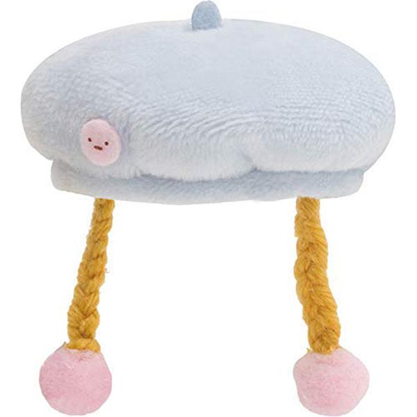 San-X 角落生物 沙包玩偶造型配件 換裝衣服配件 家家酒玩具 貝雷帽 藍_XS71938