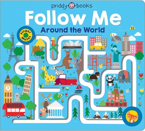 【幼兒手指探索書】FOLLOW ME AROUND THE WORLD /硬頁尋寶書《主題: 世界文化》