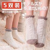 【新年鉅惠】冬天珊瑚絨襪子女中筒襪成人加厚韓版毛巾襪月子地板睡眠襪秋冬款