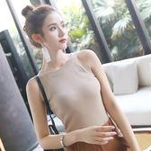 黑五好物節❤無袖針織吊帶背心女夏短款外穿打底韓版性感露臍掛脖高端氣質上衣