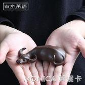 擺件 紫砂茶寵牛轉乾坤茶玩招財小和尚擺件精品手工雕塑茶盤茶道具可養 莫妮卡小屋