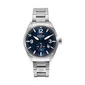 【SWISS MILITARY HANOWA】SCOPE瑞士錶紳士日期鋼帶錶-銀藍款SM14389JSN.H03MA台灣總代理公司貨兩年保固