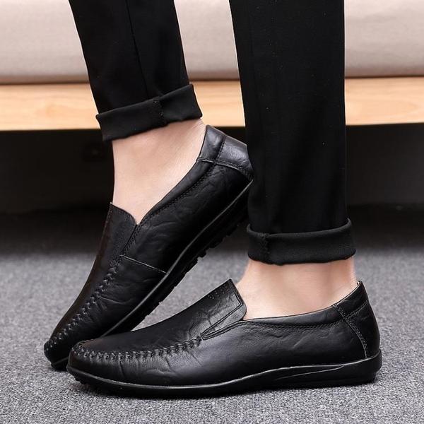 特惠豆豆鞋新款夏季男鞋豆豆鞋男真皮男士休閒皮鞋男懶人鞋韓版潮流鞋子交換禮物