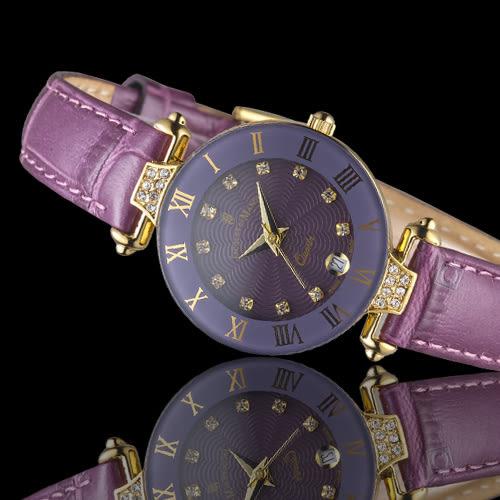 Jacques du manoir彩虹系列時尚復古腕錶     R-VIS 紫