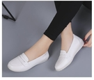 FINDSENSE品牌 四季款 新款 日本 女 高品質 簡約  真皮 小白鞋 百