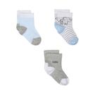 mothercare 藍色大象短襪3入-小小探險(M1SE462)NB、06M、12M、24M