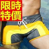 四角泳褲-溫泉彈力游泳造型男平口褲56d78【時尚巴黎】