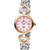 Olympianus 奧柏 恣心晶鑽鏤空手鍊女錶-珍珠貝x雙色/28mm 28032DLSR