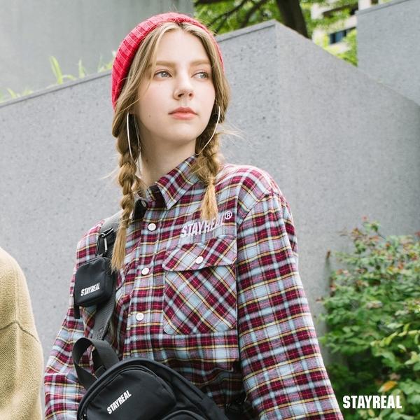 STAYREAL 街頭信仰寬袖格紋襯衫
