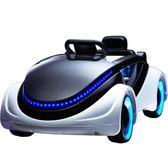 科幻兒童電動車 四輪帶遙控寶寶嬰兒可坐玩具車 小孩電動童車汽車igo 晴天時尚館