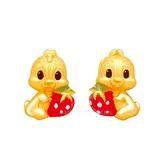 小草莓奇蒂耳環-迪士尼系列金飾-奇奇蒂蒂黃金耳環