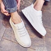 豆豆鞋男鞋夏季小白鞋男韓版百搭潮流內增高休閒鞋子男潮鞋板鞋男 小艾時尚