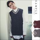 現貨 韓國製 毛衣背心 高磅數學院風【SA14127】- SAMPLE
