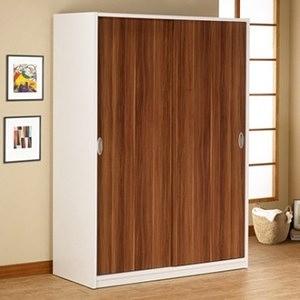萬得推門4尺衣櫃  採E1板材