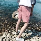 情侶褲子  夏季潮流情侶休閒短褲男夏天休閒褲寬鬆五分褲中褲正韓學生男褲子 霓裳細軟