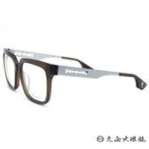 McQ Alexander Mcqueen 眼鏡 MCQ0043F (透棕-銀) 方框 近視眼鏡 久必大眼鏡