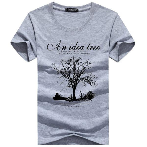 許願樹 idea tree 純棉短袖T恤(加大尺碼4XL) 潮T 情侶裝 班服 嘻哈 街舞 HIPHOP 大學T 重機 上衣 男裝