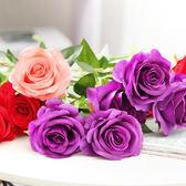 假花 5支!仿真玫瑰花絹花餐桌擺件花藝 巴黎春天