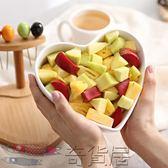 創意心型陶瓷沙拉碗帶叉家用水果盤