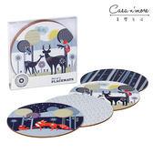 【英國 Wild & Wolf】森林動物系列 桌墊組四入組【Casa More美學生活】