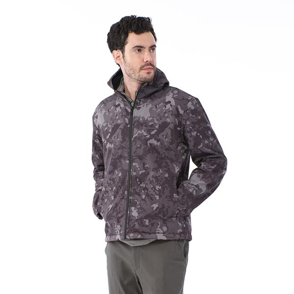 【TAKAKA】男 迷彩軟殼防風外套『迷彩黑』R52161 戶外 休閒 運動 露營 登山 外套 保暖 禦寒