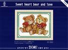 130048  Sweet heart bear and love   十字繡材料包.手工藝材料.DIY.刺繡