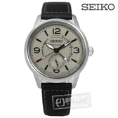 SEIKO 精工 / 4R57-00C0N / PRESAGE 限量款 都會時尚 牛皮手錶 灰x黑 42mm
