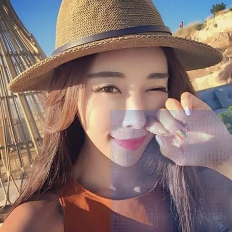 [協貿國際]  女士夏天沙灘帽遮陽草帽 (1入)