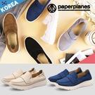 PAPERPLANES紙飛機 懶人鞋 正韓製 輕量復古 麂皮厚底 增高5cm 休閒鞋 【B7901429】5色