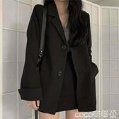 熱賣西裝外套 西裝外套女2021春秋新款潮英倫風韓版寬鬆復古港風輕熟學生小西服 coco