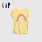 Gap女童 清新花卉印花短袖T恤 740158-黃色