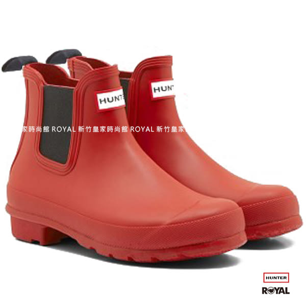 Hunter Boots 新竹皇家 Original Chelsea 紅色 霧面 踝靴 女款 NO.I6899