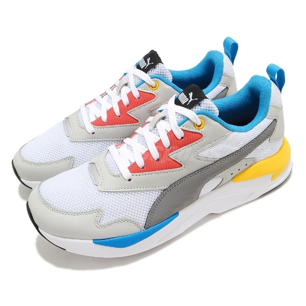 Puma 休閒鞋 X-Ray Lite 白 彩色 男鞋 復古慢跑鞋 老爹鞋 運動鞋 【ACS】 37412204
