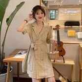 洋裝 洋氣早春2020年新款夏季輕熟風胖mm收腰氣質洋裝子顯瘦大碼女裝