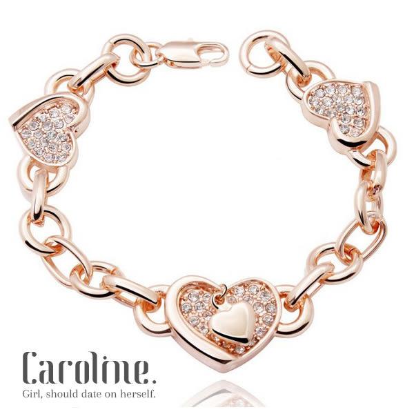 《Caroline》★閃亮動人.高雅大方設計配飾流行時尚锆石手鍊69220