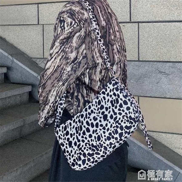 復古豹紋包包女春夏新款小眾法式側背包斜跨手提包腋下手拎包 全館鉅惠