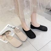豆豆鞋 單鞋女潮鞋春夏新款淺口一腳蹬平底針織舒適透氣網面豆豆鞋女-Ballet朵朵