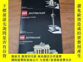 二手書博民逛書店罕見LEGO:ARCHITECTURE(樂高玩具說明書,3本合售