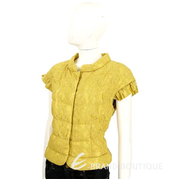 BOSIDENG 黃色精緻織花設計短袖上衣 1620129-66