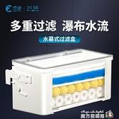 魚缸滴流盒水幕過濾盒上置三合一過濾器龜缸烏龜低水位凈水器上濾 魔方數碼